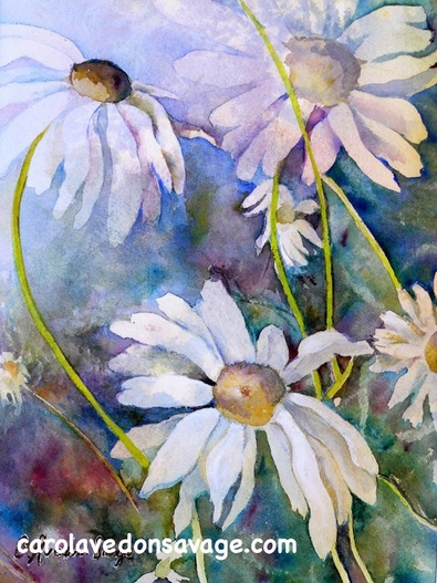 Watercolour Flowers Daisies